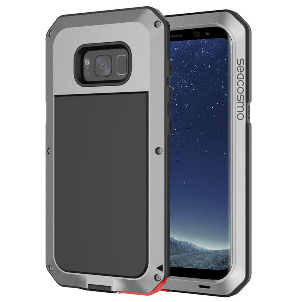 sale retailer d82bd 67f12 Galaxy S8 Plus Case, Seacosmo Full Body Military Rugged Heavy Duty Aluminum  Shockproof Dual Layer Bumper Case for Samsung Galaxy S8+, Silver