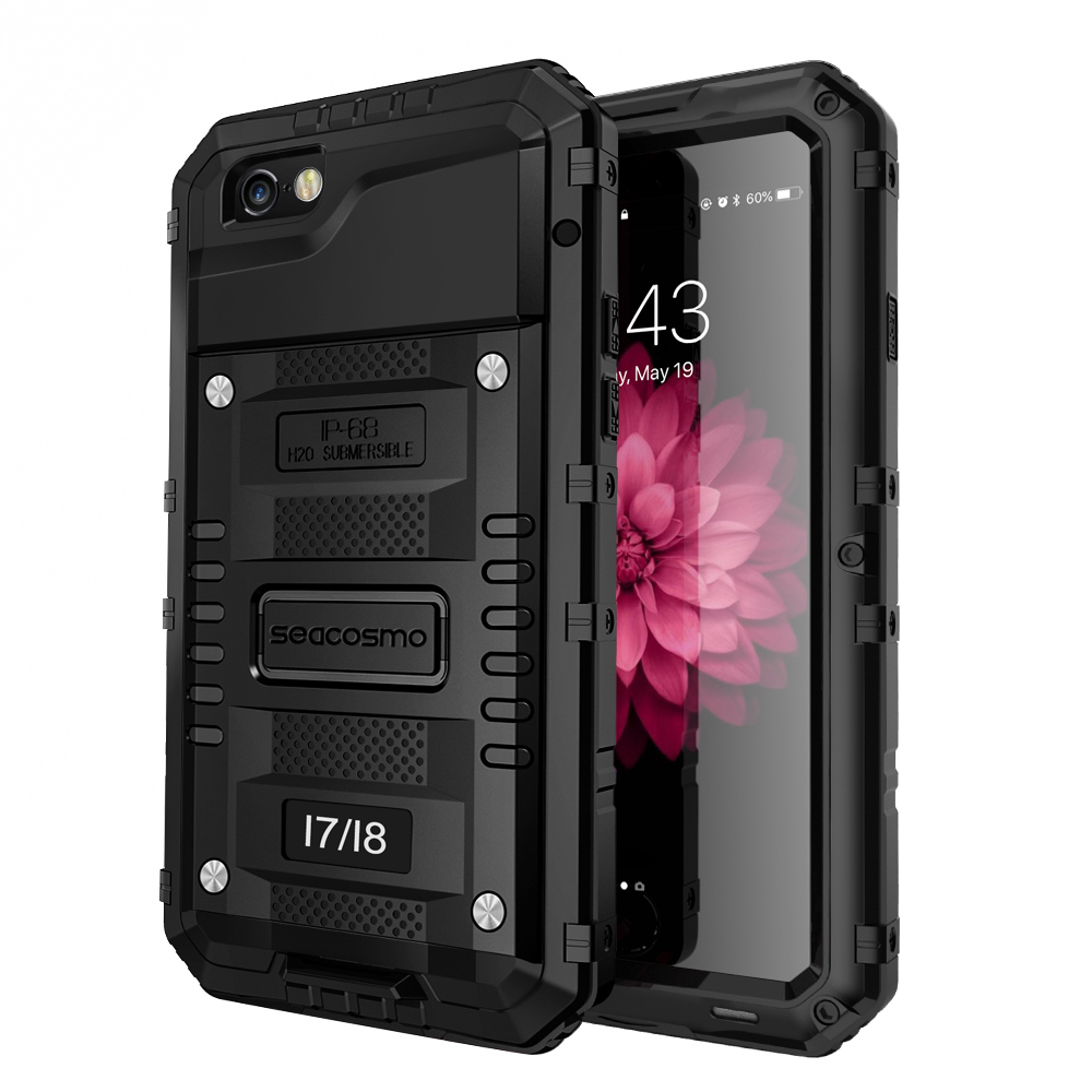best sneakers c047e 81547 seacosmo iPhone 7 Waterproof Case, Full Body Protective Shell with Built-in  Screen Protector Military Grade Rugged Heavy Duty Case Cover for iPhone ...