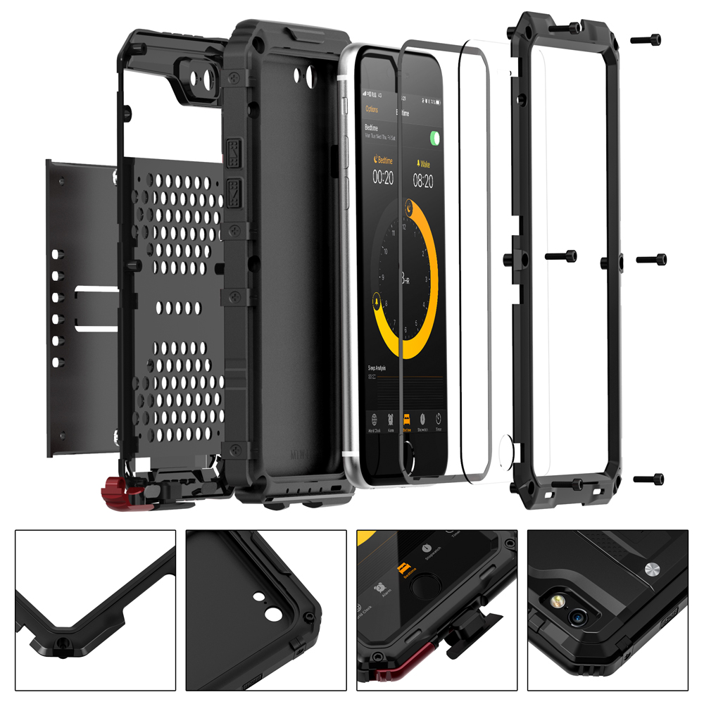 seacosmo iPhone 6S Plus Waterproof Case, Full Body Protective Shell with Built-in Screen Protector Military Grade Rugged Heavy Duty Case Cover for ...